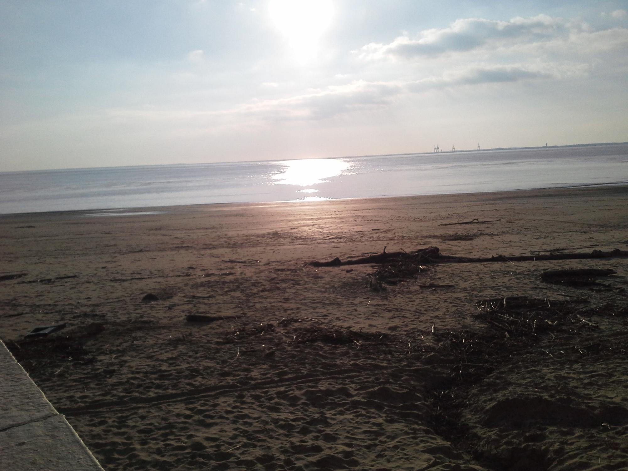 vue sur l'estuaire de la gironde